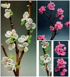 A branch of an apple-tree .This is a very simple and interesting idea, you can take a twig of this tree and decorate it with a crisp white or pink flowers. As a result, you will almost living branch of apple or any other fruit-bearing trees from peach to cherry.