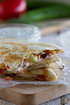 Greek Quesadillas - Taste and Tell
