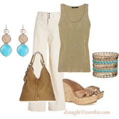 """""""Poplin Pants"""" by donnavaught on Polyvore"""