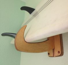 Wall Surf Rack. Set 2 'Old Boot' with long base. Natural Finish by JaxSurfRax, $55.00