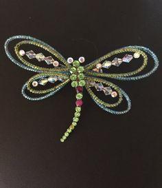 Butterfly Brooch Beaded Butterfly Brooch by BlkBttrflyDsgns