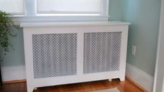 Radiator cover is finished and installed in the sun room. The sun room has the largest radiator in the house, and is the largest cover th. Furniture Covers, Ikea Furniture, Furniture Design, Radiator Covers Ikea, Banquette, White Decor, Radiators, Home Projects, Decor Styles