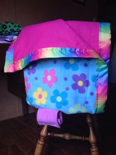 Diy Car seat cover/baby blanket for Sophie. You can really see the different sides and handles in this pic
