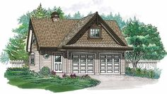 Eplans Garage Plan - Traditional Guest House - 1434 Square Feet and 0 Bedrooms from Eplans - House Plan Code HWEPL07825
