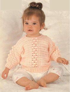 Crochet Children's Bobble Sweater Pattern by PickwicksEmporium