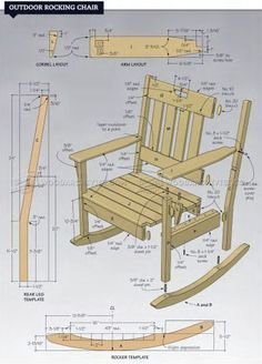Free Wooden Rocking Chair Plans Superior Wooden Rocking Chair In