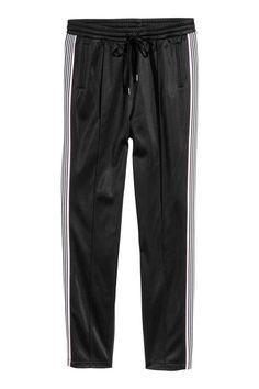 Pantalon jogger en tissu rétro - Noir - FEMME   H&M FR