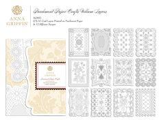 Parchment Crafts - 72 pc - 12 different lacy designs (2017)