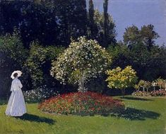 Monet, Claude - Woman in the Garden (Saint-Adresse) - Impressionism - Genre - Oil on canvas