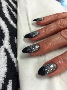 Sparkly gel extensions
