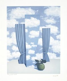 René Magritte, La Beau Monde, (Screenprint in Colours on Arches: 53.4 × 42.3 cm.)More Pins Like This At FOSTERGINGER @ Pinterest☝✋
