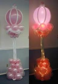 Lighted Balloon column.  #balloon-column #balloon-decor