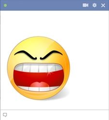 Rage smiley - Facebook émoticône