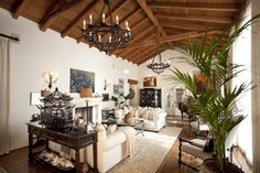 London Residence - mediterranean - living room - los angeles - by C & C Partners Design/Build Firm
