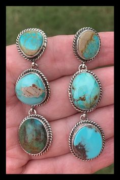 Adornment necklace and bracelet gift idea African turquoise stones unique creation for women triple row