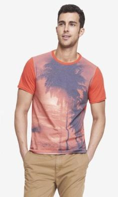 SUBLIMATION GRAPHIC TEE - RUBY SUNSET from EXPRESS