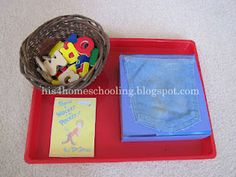 tot tray- Wocket in my Pocket letter recognition : Dr. Seuss