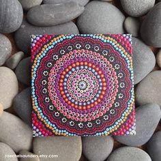 Sunset Aboriginal Dot Art Rainbow Painting by RaechelSaunders