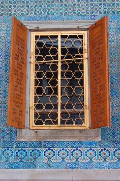 window at Topkapi Palace, Istanbul, Turkey