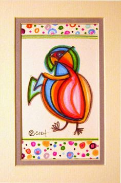 Pinky the Parrot by MoonieBlues on Etsy, $15.00