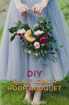 DIY your very own Silk Flower Hoop Bouquet with artificial flowers from Afloral.com