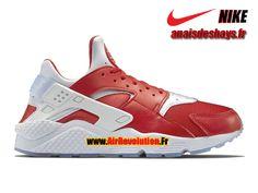 """Boutique Officiel Nike Air Huarache Run Premium """"Milano"""" City Pack Homme Rouge université/Blanc 704830-610"""