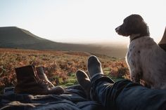 If this is your view...life is good. A dog, rustic mountain boots, and adventures with a truck.