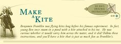 Make a Kite - Follow these instructions to make a kite like Franklin's!