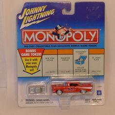 Johnny Lightning Die Cast Monopoly Illinois Ave  '57 Chevy 1:64 2001 #JohnnyLightning #Dodge