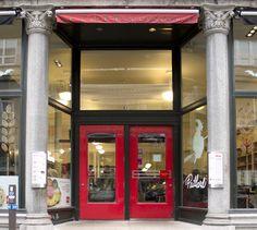 LEMAYMICHAUD   INTERIOR DESIGN   ARCHITECTURE   QUEBEC   CAFE   RESTAURANT   BAKERY   Café-boulangerie Paillard Café Restaurant, Jukebox, Architecture, Design, Bakery Cafe, Architecture Illustrations, Design Comics