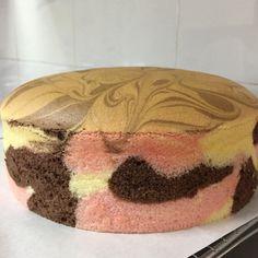 Adapted from this recipe Ingredients: plain flour corn flour tsp baking powder tsp salt 6 egg yolks 1 tsp vanilla extract Corn oil coconut milk (I used milk + Cake Icing, Cupcake Cakes, Cupcakes, Cinnamon Stars Recipe, Neapolitan Cake, Ogura Cake, Molten Cake, Resep Cake, Sponge Cake Recipes
