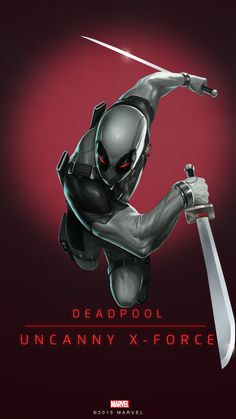 Deadpool X-Force Poster-02 Red