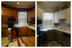 Loving the white cabinets!