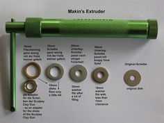 Washers converted for the Makins Clay Extruder