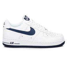 Nike Air Force 1 White/Navy | Kävely- ja muut kengät | Syndicate.fi Streetwear