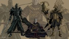 Dark Souls 2: Royal Knights by MenasLG.deviantart.com on @DeviantArt  **Raime, Sir Alonne, and Velstadt..Oh my