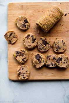 Salted pistachio chocolate chunk cookie dough on sallysbakingaddiction.com