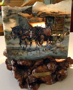 RARE Artist Don Holcombe Hand Painted Ocean Agate by Calessabay, $149.95