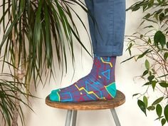 Show a bit of ankle with these socks that are both jazzy and snazzy.
