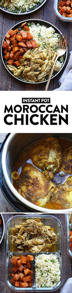 Friends with an Instant Pot, it's time to take 20 minutes to make this EPIC Instant Pot Moroccan Chicken recipe. This Instant Pot chicken thighs recipe is a great keto dinner recipes and is perfect for meal prep. If you are looking for an easy Instant Pot Shredded Chicken Recipes, Chicken Thigh Recipes, Instant Pot Pressure Cooker, Pressure Cooker Recipes, Pressure Cooking, Instant Pot Chicken Thighs Recipe, Slow Cooker Balsamic Chicken, Clean Dinner Recipes, Cooking Recipes