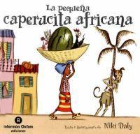 """Una versión precios de Caperucita Roja del sudafricano Niki Daly de la guía de lectura """"Un mundo de cuento""""."""