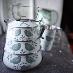 Quince Living - Nkuku Lolita Tiffin Tin | Outdoor Accessories and Homewares | Quince Living