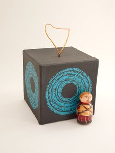 Doctor Who Rory the Roman guarding the Pandorica ornament. $13.00, via Etsy.
