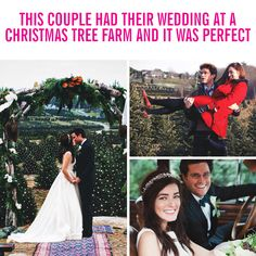 CHRISTMAS TREE FARM WEDDING: This couple held their festive wedding at a Christmas tree farm, and it was sOoOo Instagram-worthy! See the perfect pictures, read their sweet story, and more from entrepreneurs and bloggers Kiel James Patrick and Sarah Vickers, here! Find all the photos and more wedding ideas here and at Cosmopolitan.com.