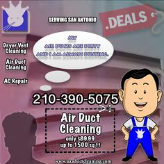 Clean Dryer Vent, Clean Air Ducts, Vent Cleaning, Chimney Sweep, San Antonio, Indoor Air Quality, Conditioning, Division, Business