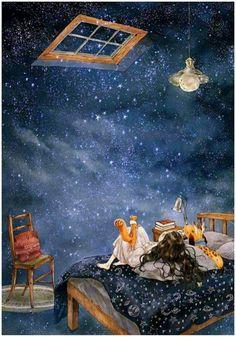 Ci ispiriamo agli antichi maestri giapponesi che cantarono la bellezza della natura e del cosmo, in 17 sillabe che chiamarono HAIKU Fantasy Art, Night Stars, Star Night, Arabic Phrases, Arabic Words, Arabic Quotes, Islamic Quotes, Nenhum Momento, Night Window