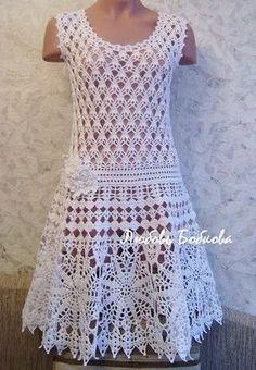 Шикарное платье крючком фото #1