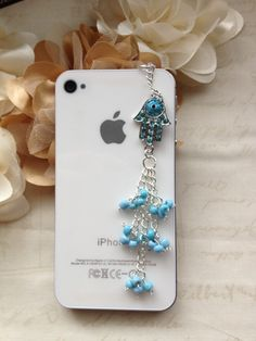 Phone dust plug iphone dust plug phone charm-Evil Eye in Blue