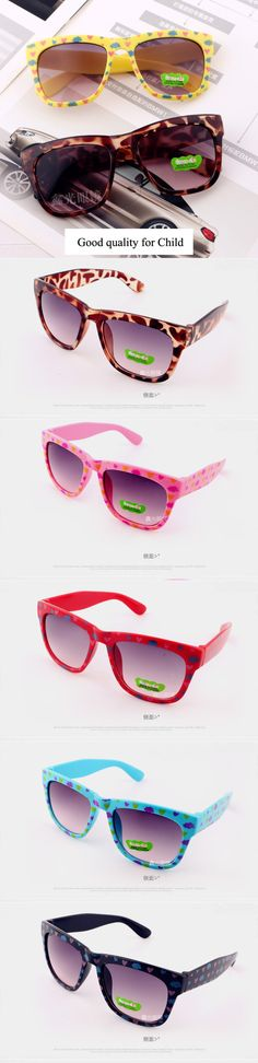 2pcs 2016 plastic Cute Child UV protection Fashion Sunglasses Baby Girls Kids oculos de sol Lovely dots children glasses N663 $10