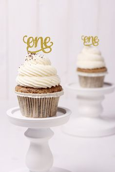Script One Cupcake Topper - Set of 10 Cupcake Toppers First Birthday Decoration 1st Birthday Topper For Cupcake (S146) by ChicagoFactory! Find it now at http://ift.tt/2dAb0CJ!